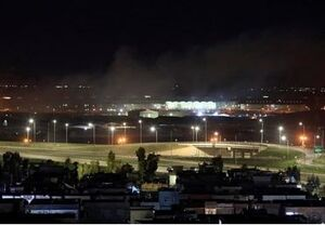 تصاویر حمله پهپادی به پایگاه آمریکایی در اربیل