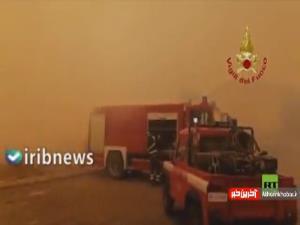 آتشسوزی مهیب در ایتالیا