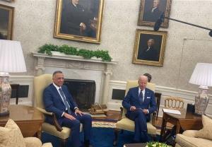 الکاظمی با رئیس جمهور آمریکا دیدار کرد