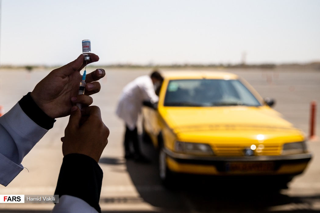 عکس/ آغاز واکسیناسیون رانندگان تاکسی