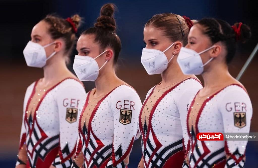 عکس/ پوشش متفاوت بانوان ژیمناستیک آلمان در مسابقات المپیک