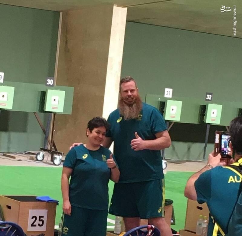 عکس/ قد و چهره تیرانداز استرالیایی سوژه شد
