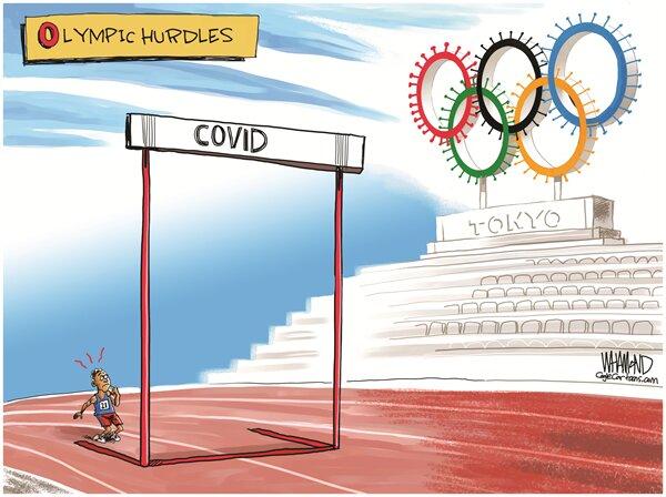کاریکاتور/ کرونا چه بلایی سر المپیک آورد!
