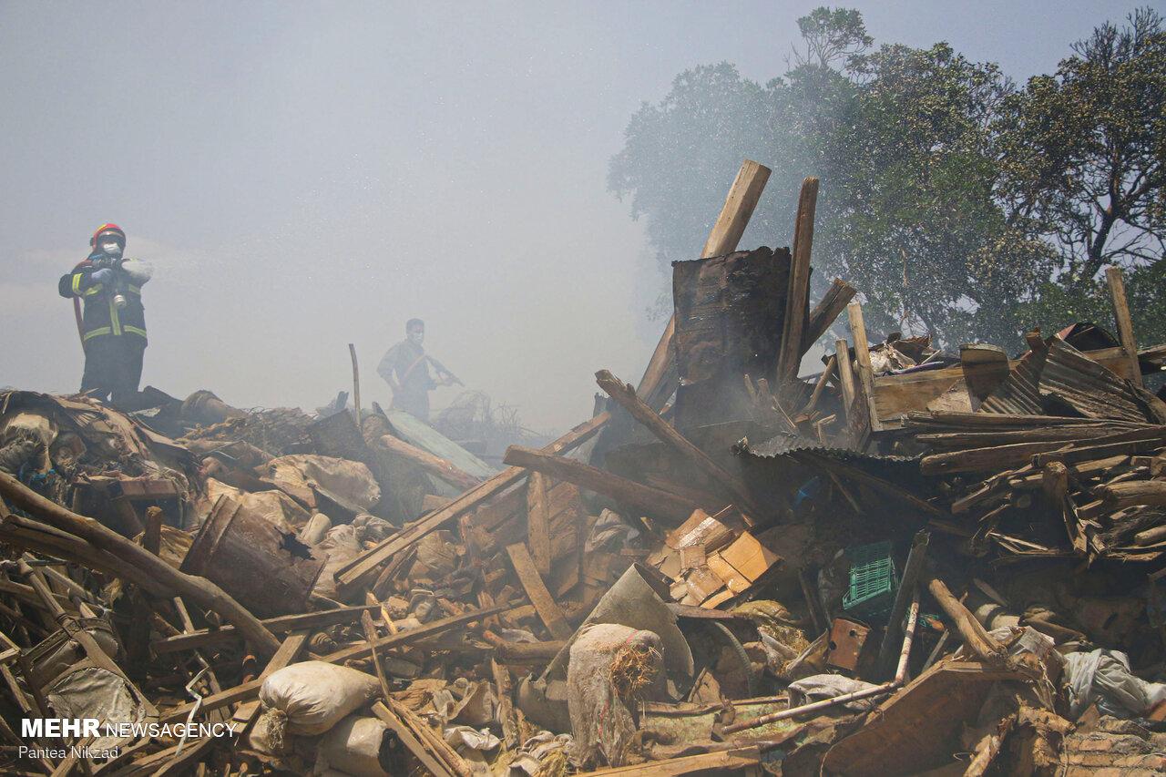 عکس/ آتش سوزی منزل مسکونی در شهرکرد