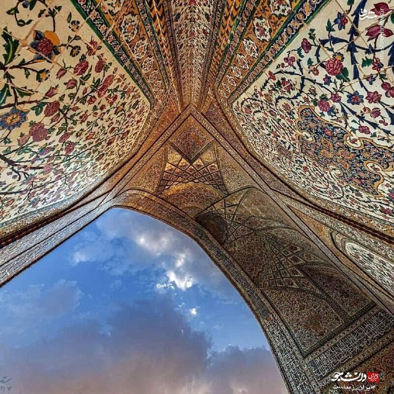کاشیکاری چشمنواز مسجد وکیل شیراز