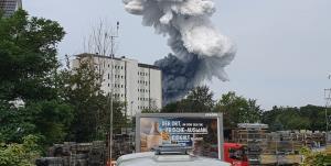 وقوع انفجار مهیب در کارخانه مواد شیمیایی آلمان