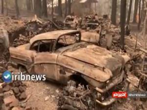 تصاویری از خسارت های آتش سوزی مهیب در ایالت کالیفرنیای آمریکا
