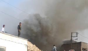 آتشسوزی انبار ضایعات در شهرکرد