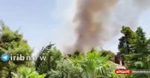 تصاویری از آتشسوزی در اراضی جنگلی یونان