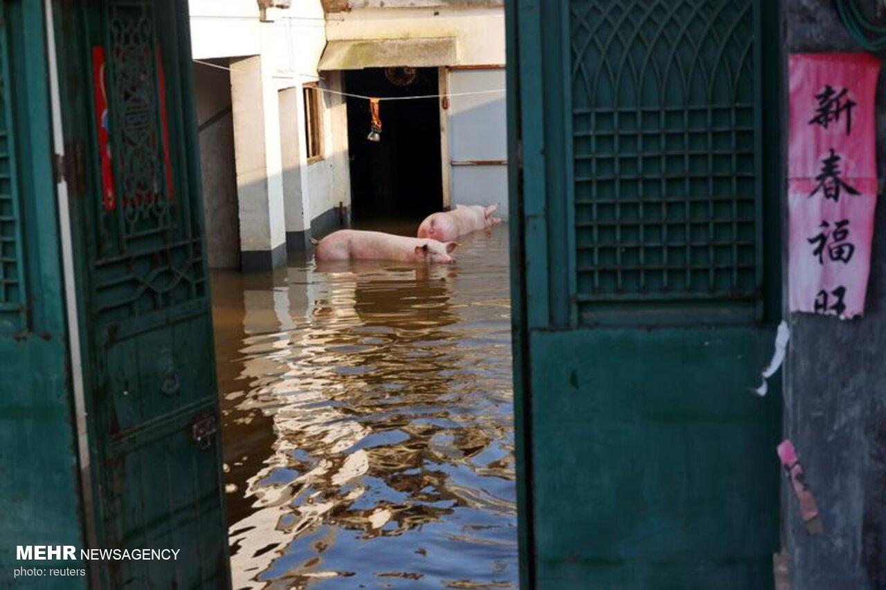 عکس/ وضعیت هنان چین پس از سیل مرگبار