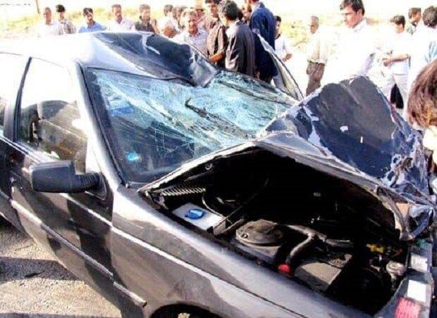 تصادف در محور جاده اشتهارد ـ بوئين زهرا با يک کشته و ۴ مجروح