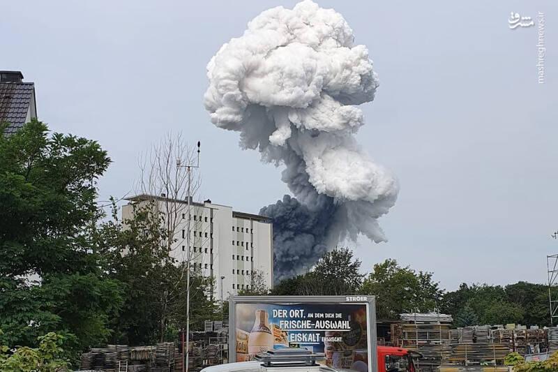 عکس/ وقوع انفجار مهیب در تأسیسات مواد شیمیایی آلمان