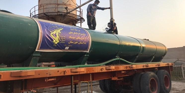 ۶۲۰ تانکر چند هزار ليتري در مسير خوزستان