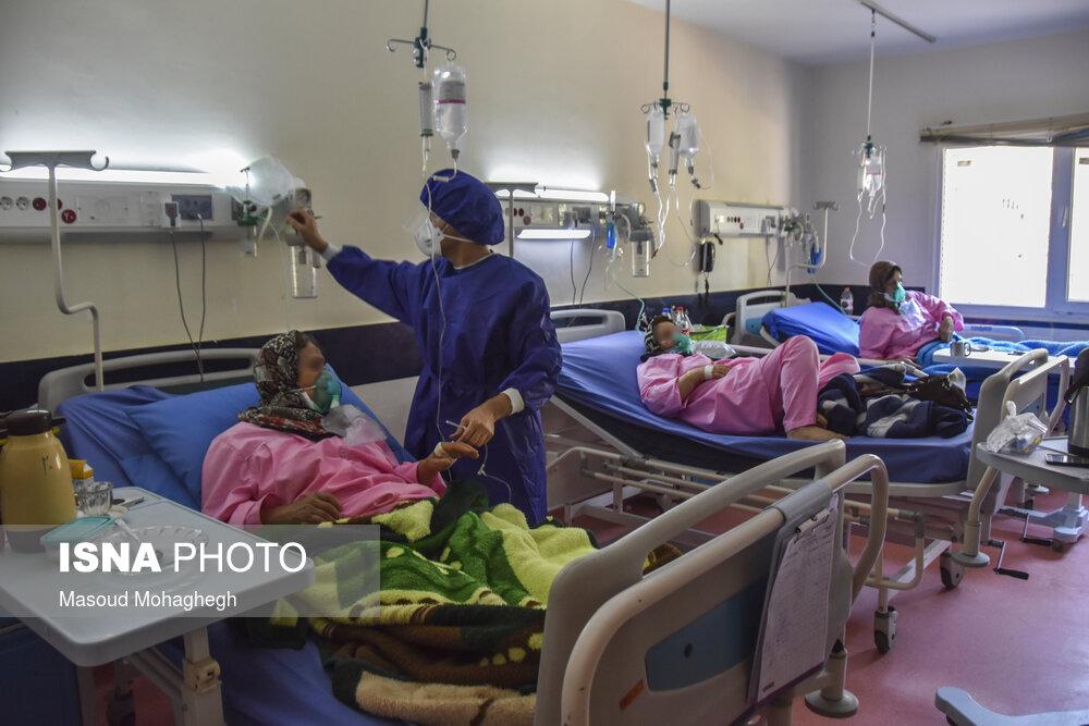 عکس/ پیک پنجم کرونا؛ تخت های پر در بیمارستان شفاء سمنان