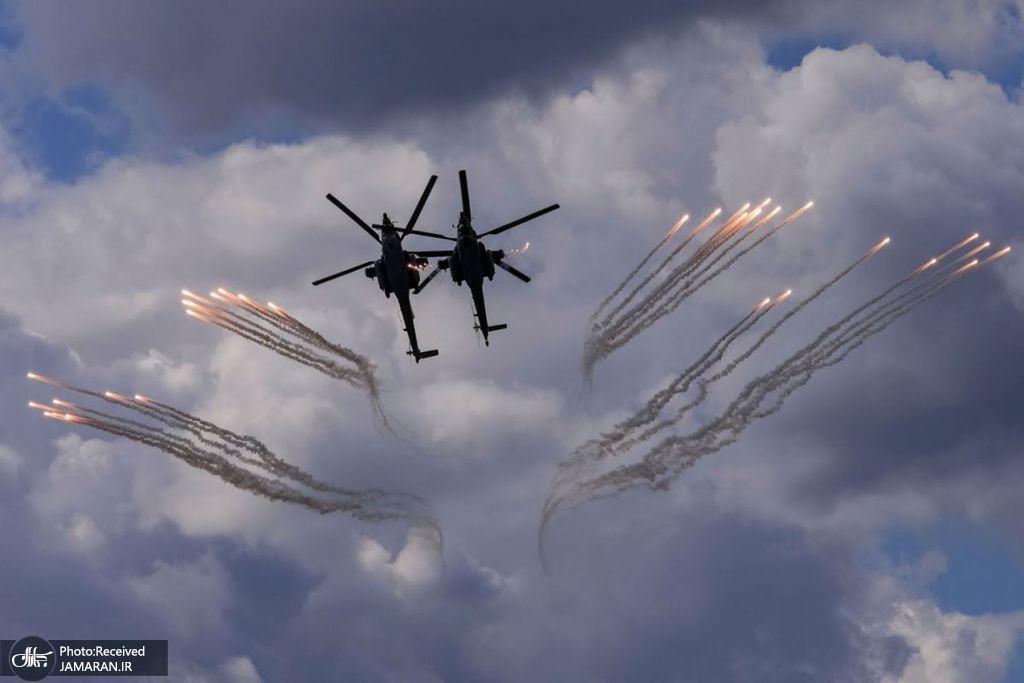 نمایش بالگردهای نظامی در روسیه