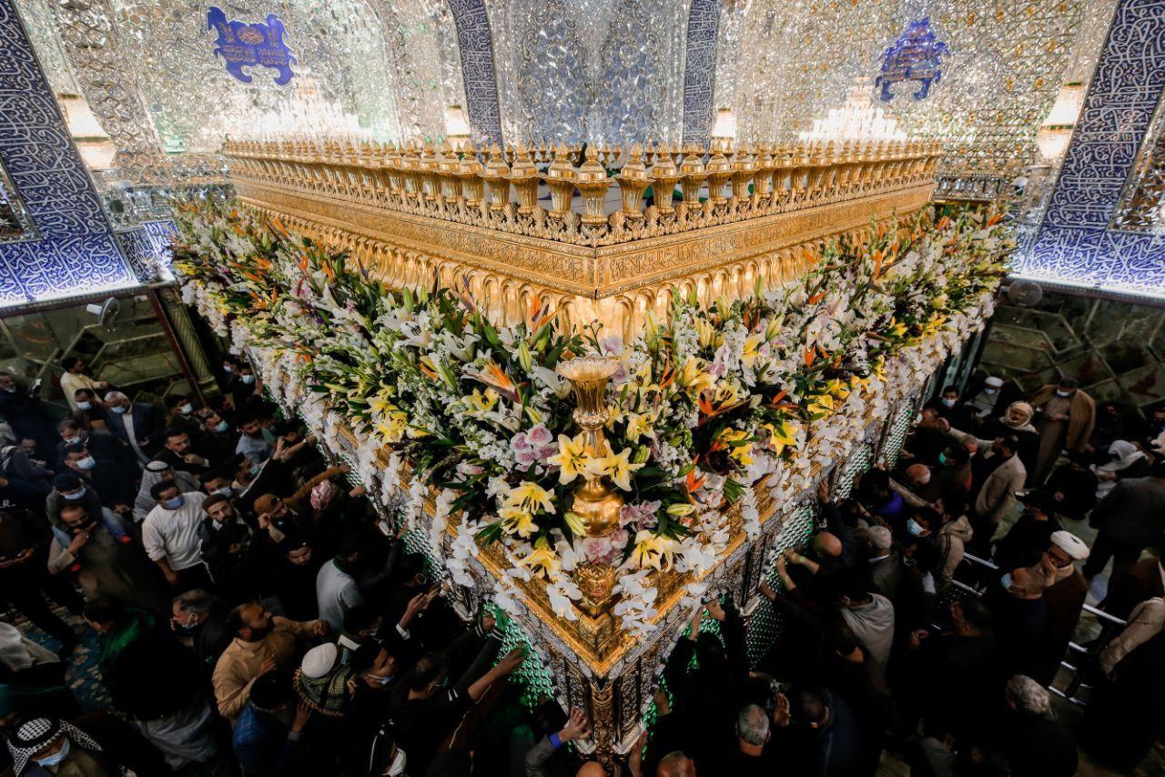 تصویر ویژه حرم مطهر امیرالمومنین در شب عید غدیر