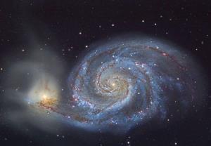 پرواز خیره کننده بر فراز کهکشان گرداب