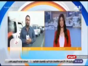 مصدوم شدن خبرنگار در پخش زنده