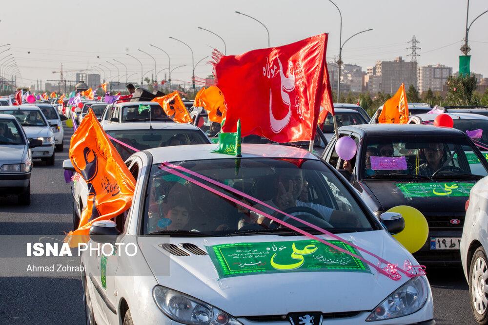 عکس/ کاروان شادی خودرویی غدیر تا ظهور در قم