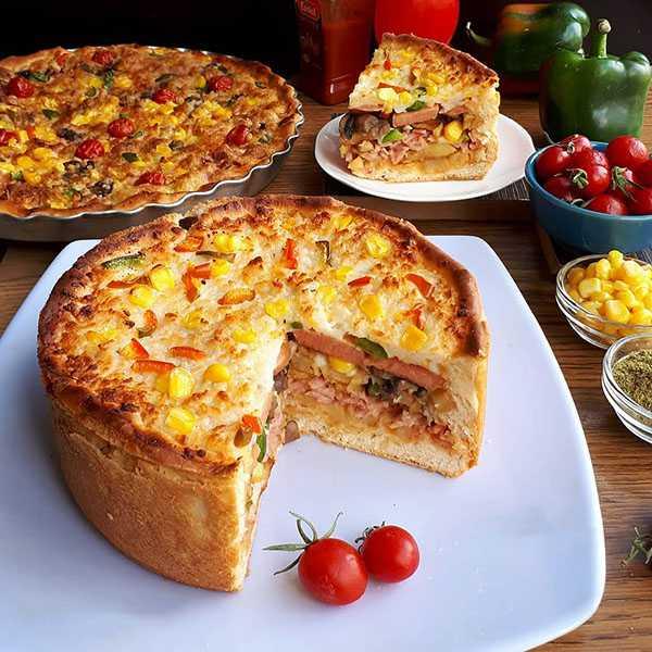 طرز تهيه کيک پيتزا خوشمزه و مخصوص رستوراني در منزل