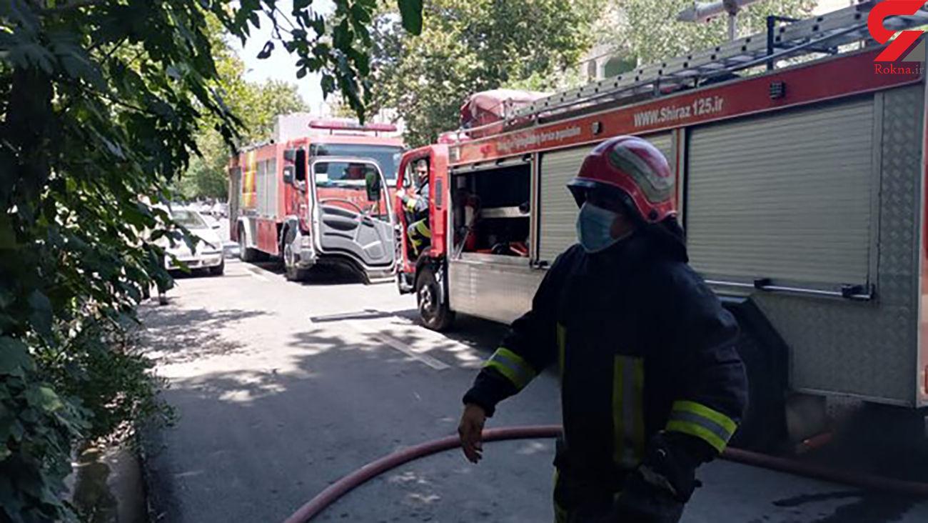 نجات 15 زن و مرد شيرازي محاصره در آتش
