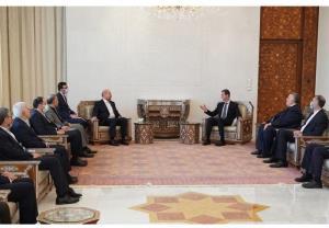 تصاویری از دیدار قالیباف با بشار اسد