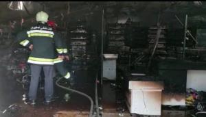 فروشگاه کوثر اصفهان در آتش سوخت