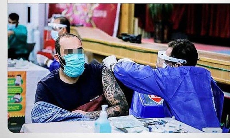 عکس/ واکسن زدن «حمید صفت» در زندان