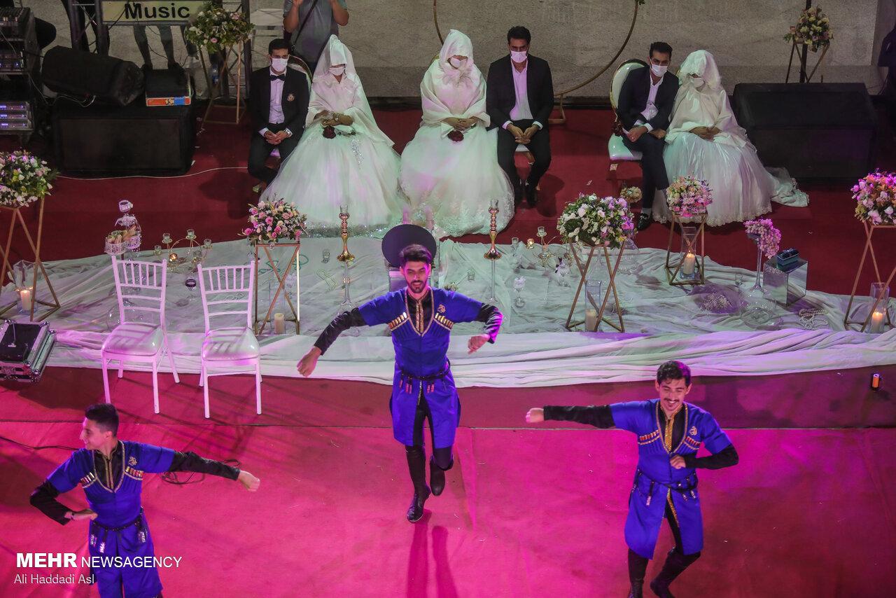 عکس/ جشن ازدواج آسان در شب عید غدیر