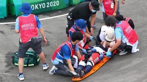 حادثه برای مسابقهدهندگان BMX در نیمه نهایی مردان و زنان المپیک توکیو