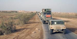 کاروان آمریکا در جنوب عراق هدف حمله قرار گرفت