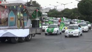 عید غدیر در بیجار؛ از برگزاری کارناوال خودرویی تا نورافشانی شبانه