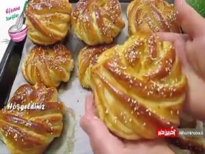 آموزش تهیه نان شیرمال