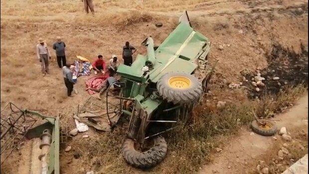 مرگ دلخراش راننده کمباين در شهرستان بهار