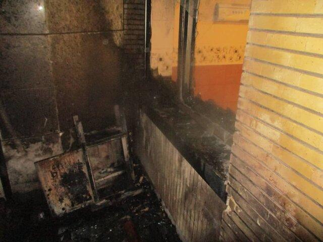 حريق در بيمارستان اميد اصفهان