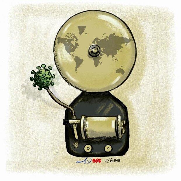 کاریکاتور/ زنگ خطر پیک جدید کرونا