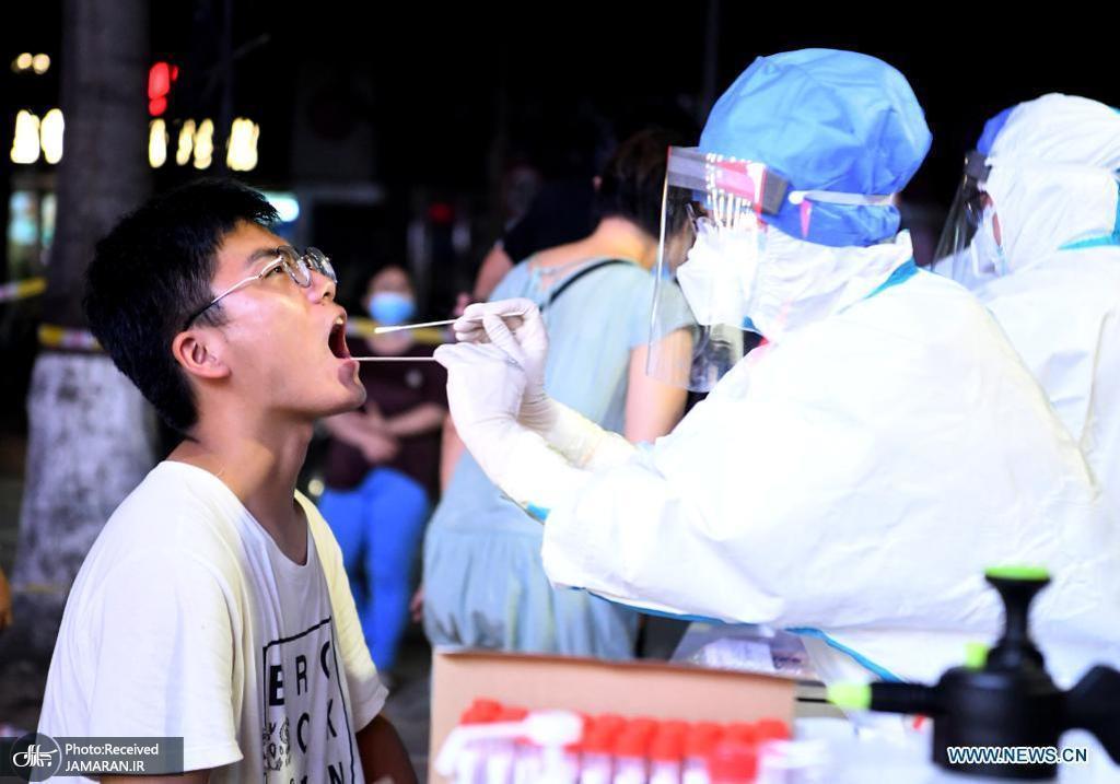 تست کرونا در ژنگژو چین پس از شیوع دوباره این بیماری