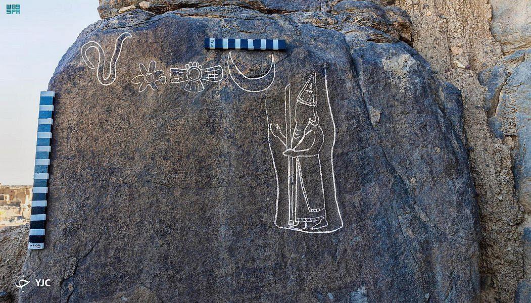 گوناگون/ کشف حکاکي ۲۵۰۰ ساله در عربستان