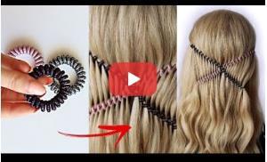 ترفند تزئین موی بلند با «نگهدارنده مو»