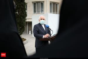 شوخی ظریف با خبرنگاری که به زبان انگلیسی با او صحبت کرد