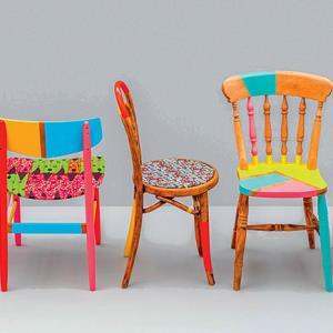 با این ترفند صندلی های قدیمی را نو و نوار کنید