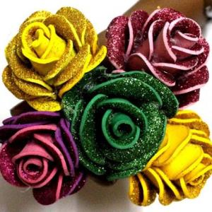 ترفند ساخت گل رز زیبا برای موها