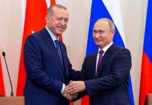 تماس تلفنی روسای جمهور ترکیه و روسیه؛ تشکر اردوغان از پوتین