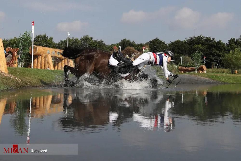 سقوط از روی اسب در حین مسابقات المپیک