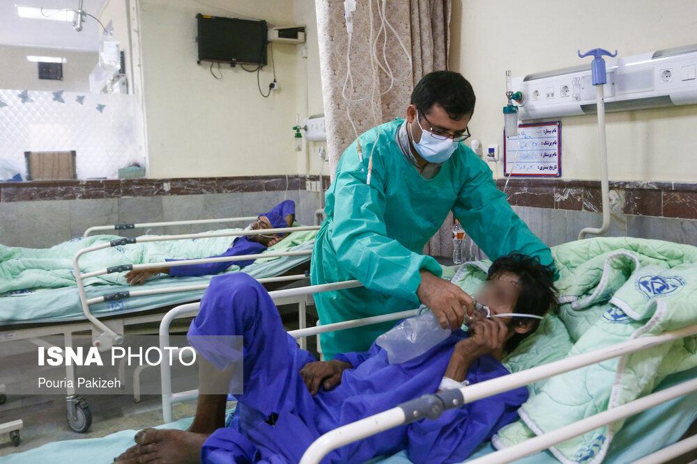عکس/ بیمارستان سینای همدان در پیک پنجم کرونا