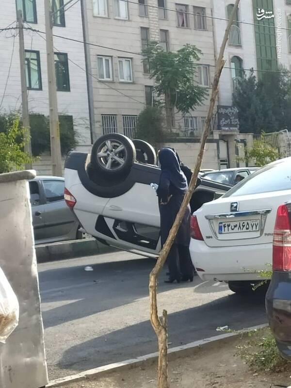 تصادف عجیب در تهران