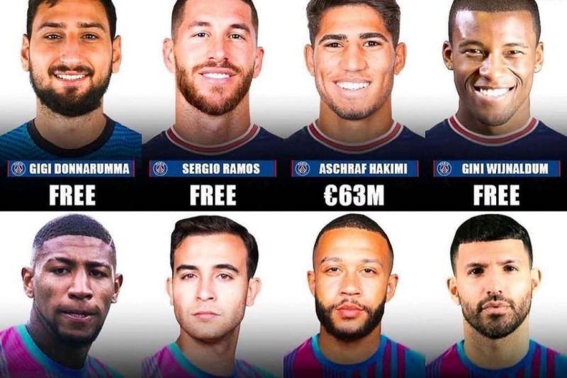 مقایسه خریدهای بارسلونا با پاریسنژرمن