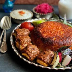 طرز تهیه کباب درباری خوشمزه و مخصوص با گوشت و مرغ