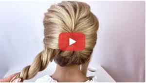 ایده ای ساده و زیبا برای بستن موها