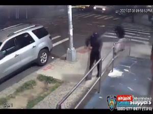 ویدئویی از لحظه جنایت وحشیانه و کور در قلب نیویورک
